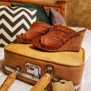 Adrienne Vittadini Cork Wedge Sandals